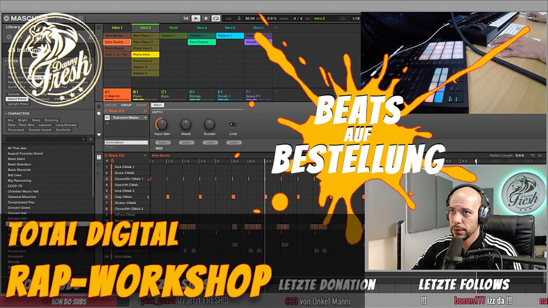 Danny beim Online Workshop mit Musikunterricht trotz Corona